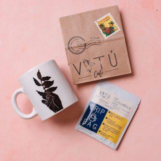 Set VITU | 3 Drip Bags + Taza Cafetera