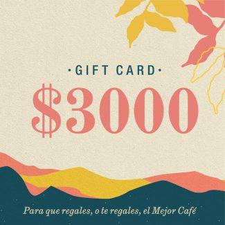 Gift Card | $3000 | Física