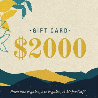 Gift Card | $2000 | Física