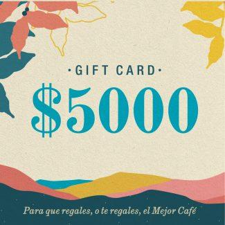 Gift Card | $5000 | Física